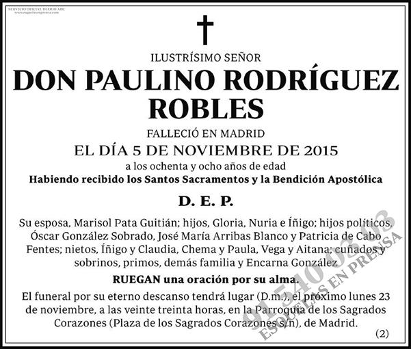 Paulino Rodríguez Robles